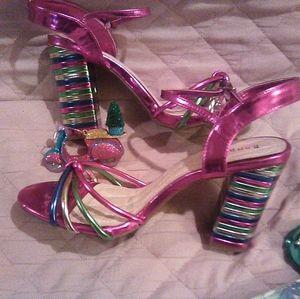 Multi metallic scrap heels